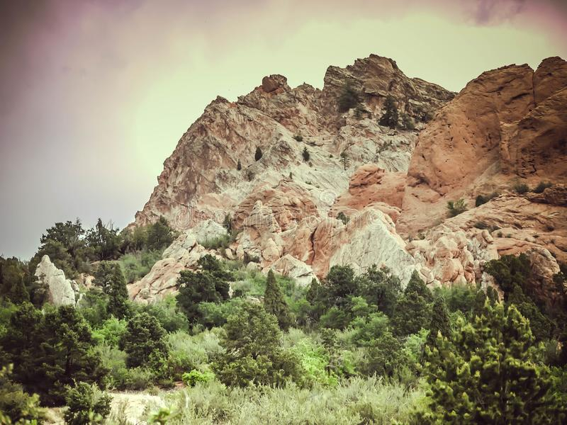 Garden of the Gods 2. One of the most beautiful places in Colorado- Garden of the Gods. Perfect for rock climbing, hiking, and just enjoying the scenery royalty free stock image