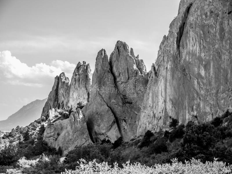 Garden of the Gods. One of the most beautiful places in Colorado- Garden of the Gods. Perfect for rock climbing, hiking, and just enjoying the scenery royalty free stock photo