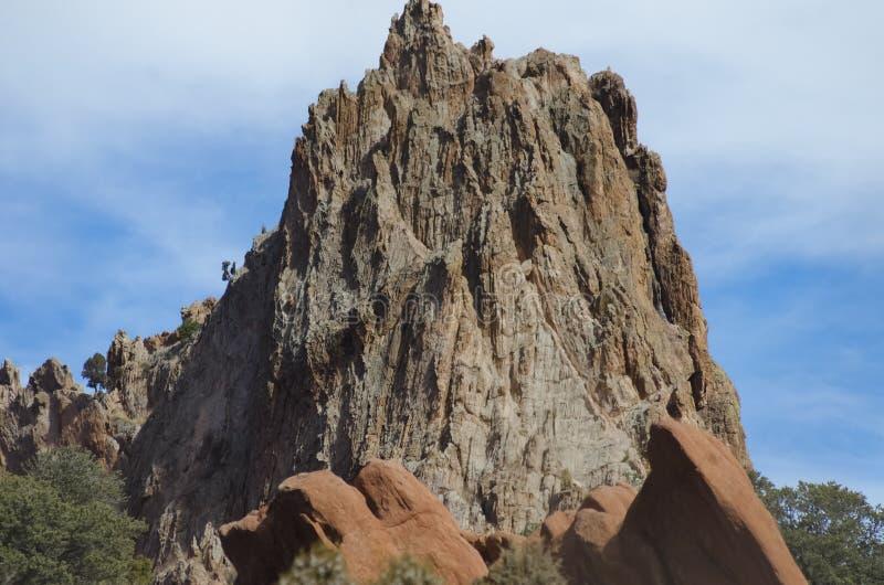 Garden of the Gods Park. Garden of the Gods. Red rocks in the Spring. Located in Colorado Springs, Colorado stock photo