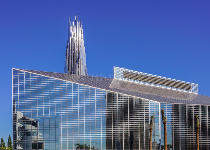Christ Cathedral and crystal Crean Tower in Garden Grove, California stock photo