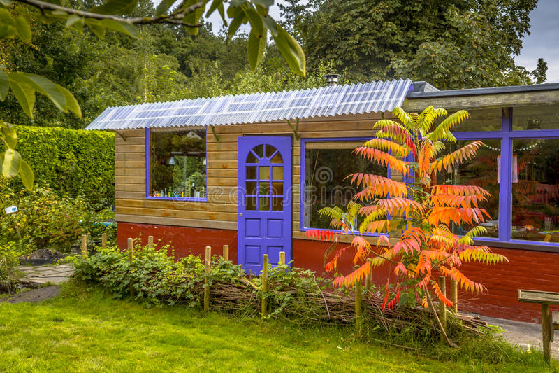 Garden guest house stock image