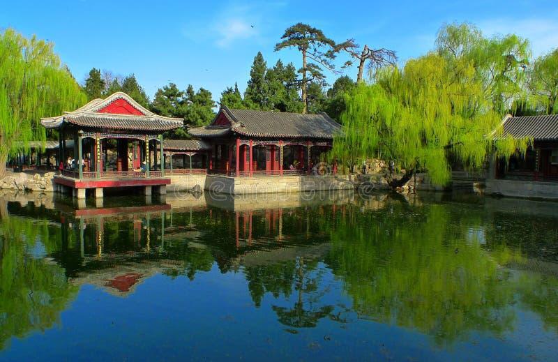 Garden of Harmonious Interests in summer palace stock photos