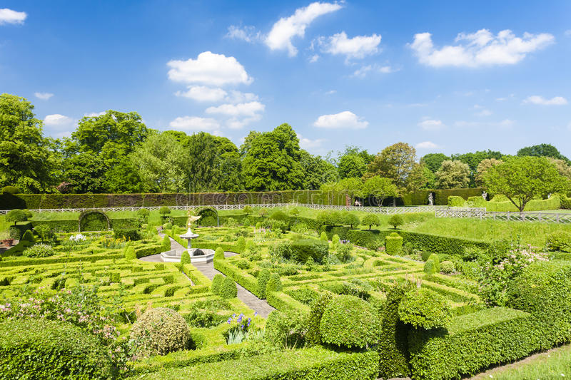 Garden of Hatfield House stock photography
