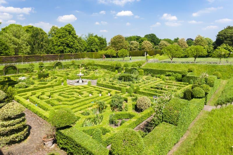 Garden of Hatfield House. Hertfordshire, England royalty free stock photo