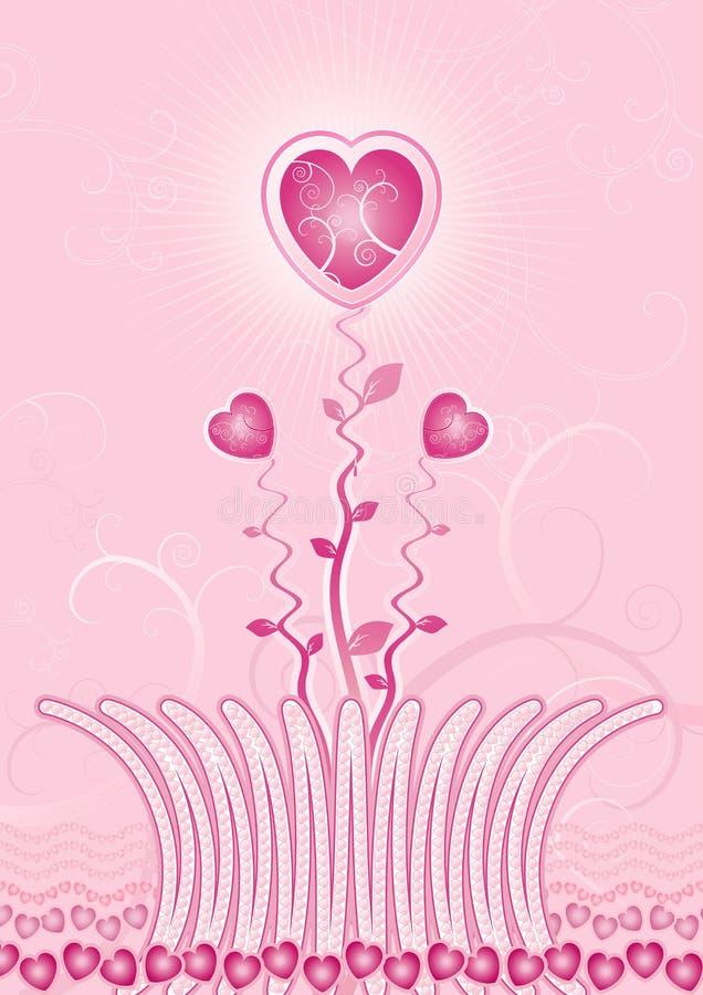 Garden of hearts,vector royalty free stock photo