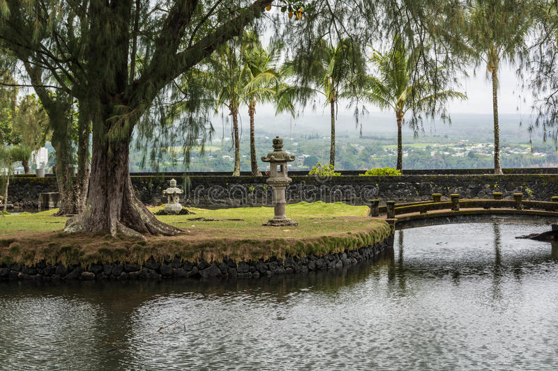 The garden in Hilo, Hawaii stock image
