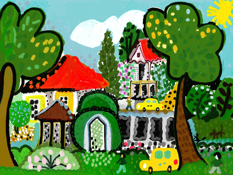 Download Garden house stock illustration. Image of country, innocent - 29580053