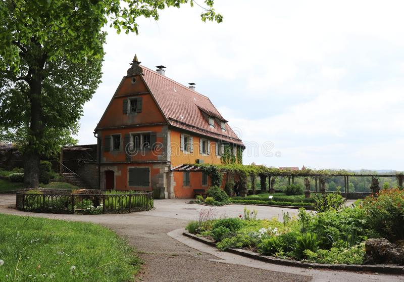 The Garden House in the gardens of Rothenburg ob der Tauber, Germany royalty free stock photography