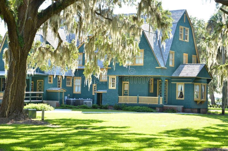 Garden house. A rich old style garden house royalty free stock image