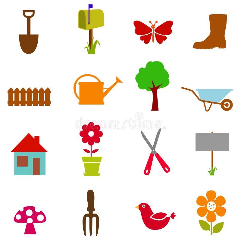 Download Garden icon set stock vector. Image of plant, design - 16206521