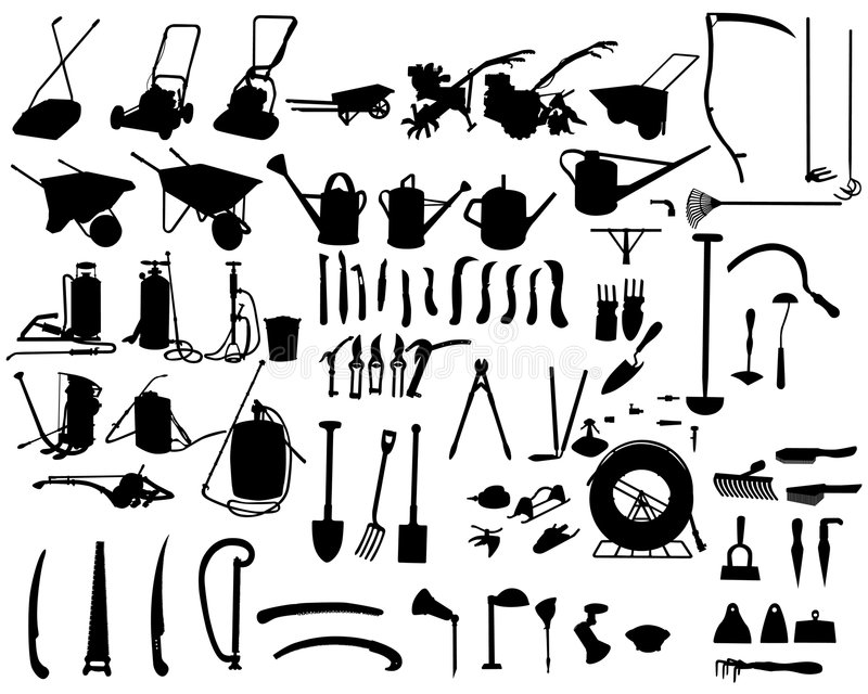 Garden instruments royalty free illustration