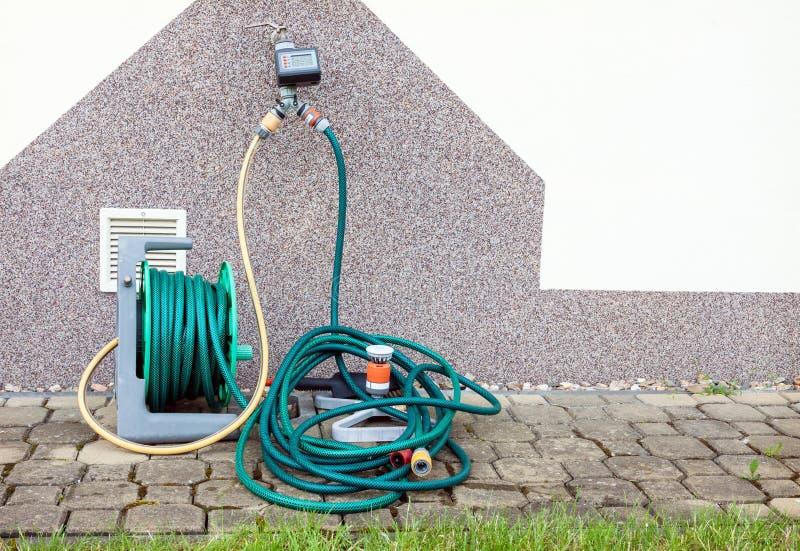 Garden irrigation equipment stock images