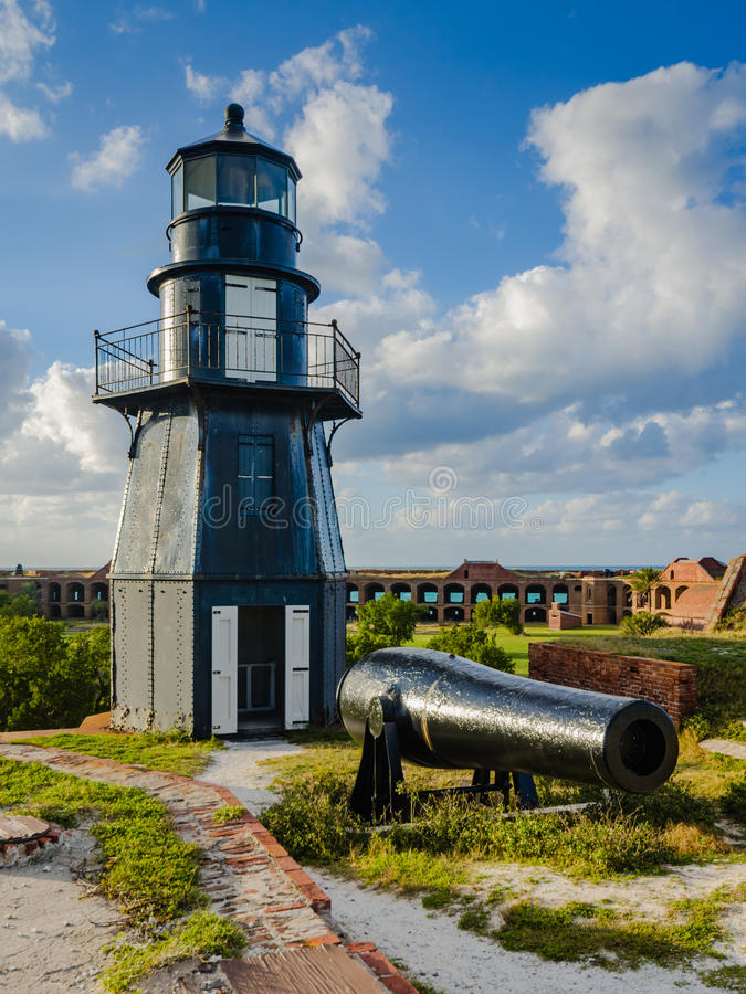 Garden Key Lighthouse At Dry Tortugas National Park Stock
