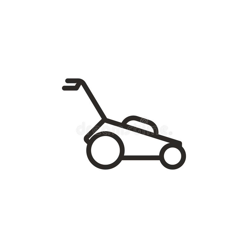 Garden, lawn, mower vector icon. Element of design tool for mobile concept and web apps vector. Thin line icon for website design royalty free illustration