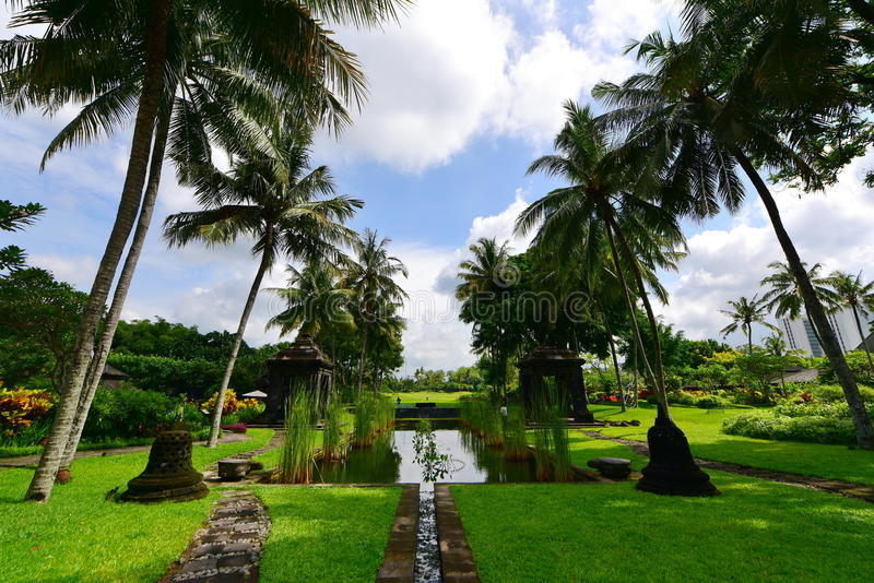 Garden Of A Luxury Resort In Java Stock Image - Image of course ...