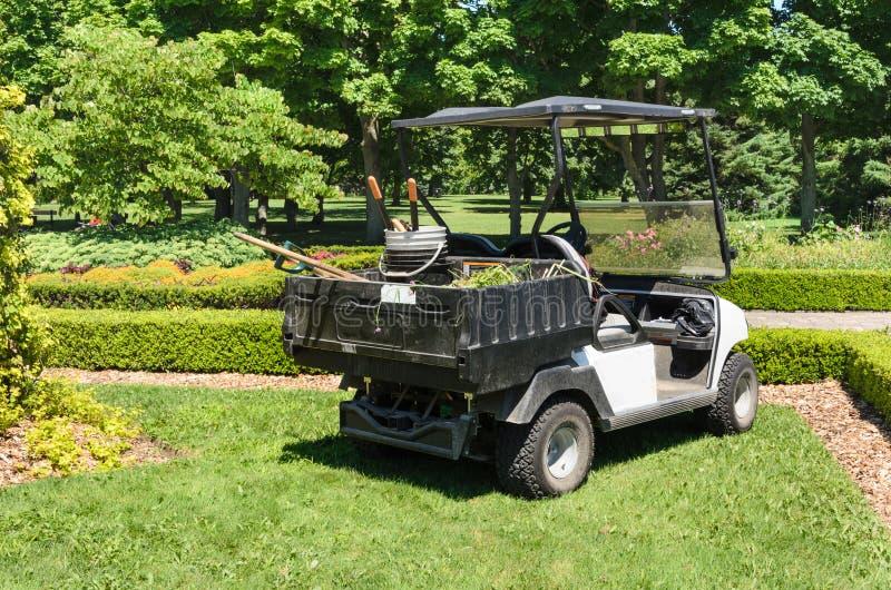 Garden Maintenance cart royalty free stock image