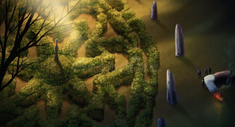 Garden Mandala - Digital Painting Royalty Free Stock Photography