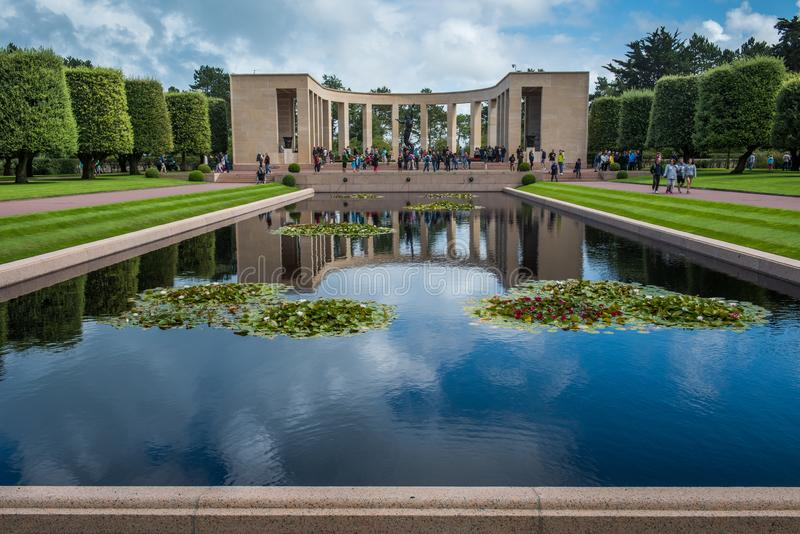Garden of the Missing, Omaha Beach royalty free stock photography