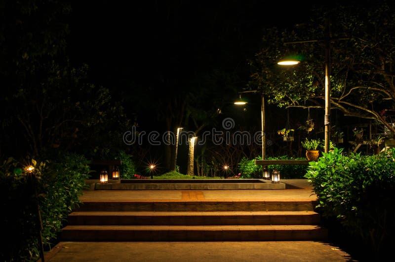 Garden on night. The Garden on night scence stock image