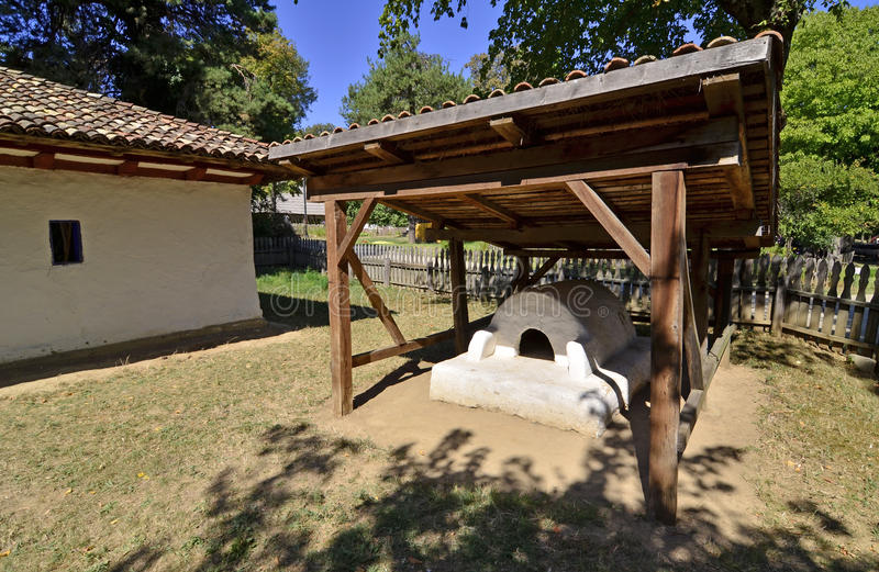 Garden oven. Specific to Transylvania land of Romania stock photography