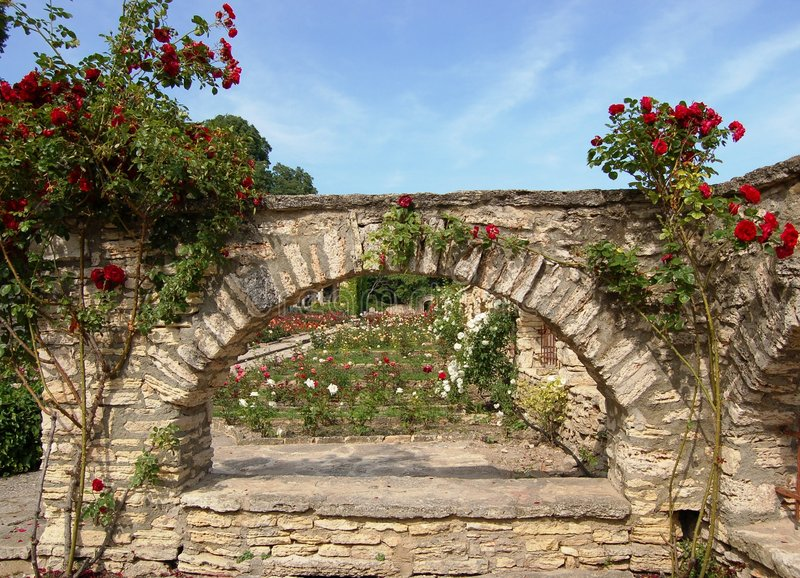Garden in palace in Bulgaria stock image