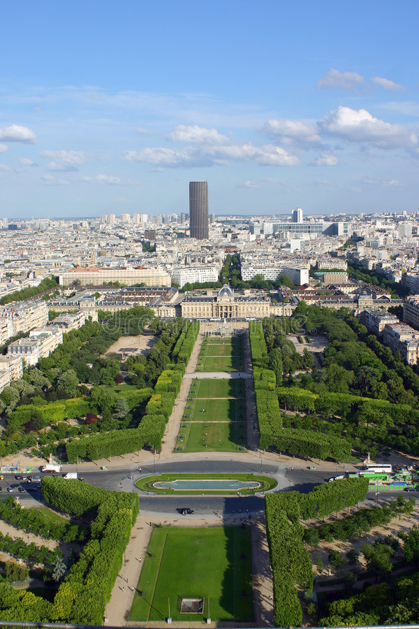 Download Garden of Paris stock photo. Image of city, tower, france - 153308