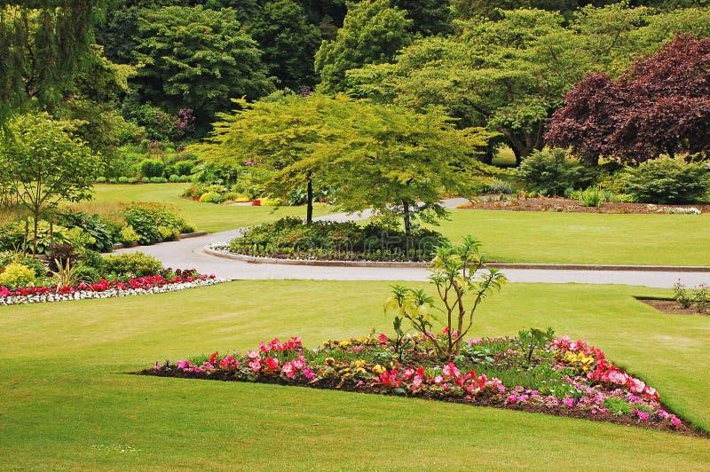 Garden park in spring royalty free stock photos