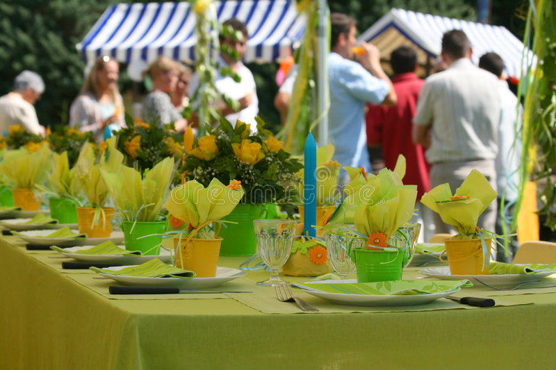 Garden party stock photo