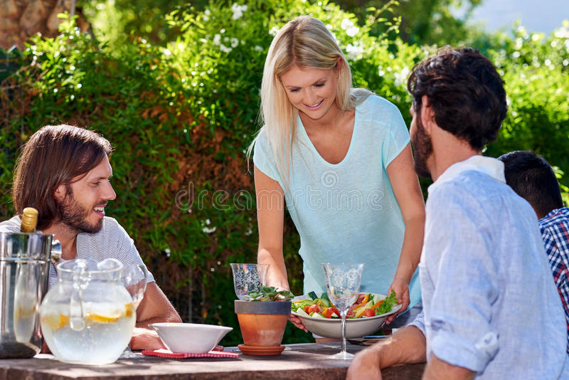 Garden party salad royalty free stock photo