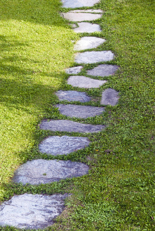 Garden path royalty free stock image