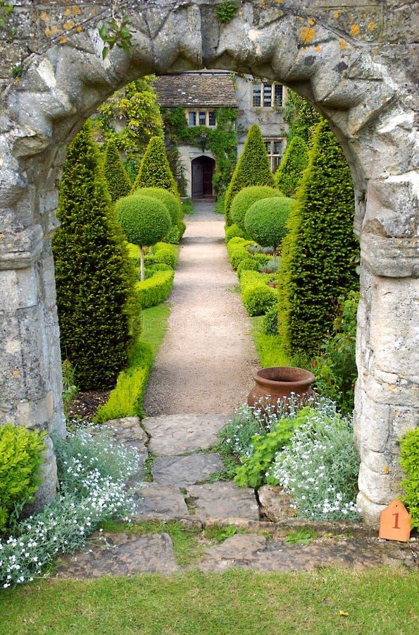 Garden path royalty free stock photos