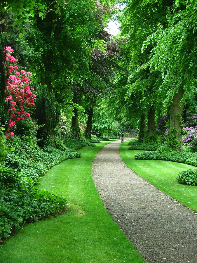 Download A garden path stock photo. Image of beautiful, gravel, flowers - 89226