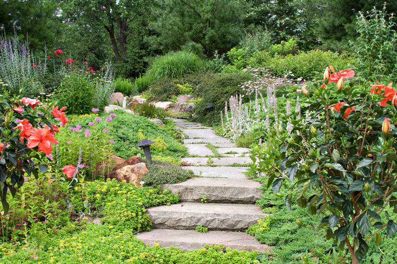 Download Garden Path stock image. Image of natural, english, cottage - 9089633