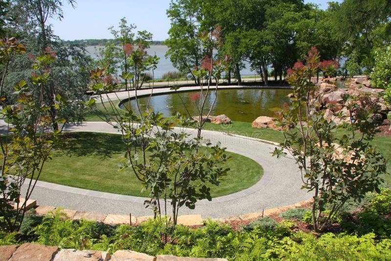 Garden path in Dallas Arboretum royalty free stock images