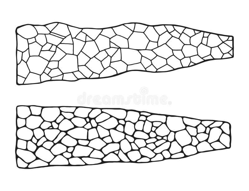 Garden path of tiles set. masonry stone isolated vector.  royalty free illustration