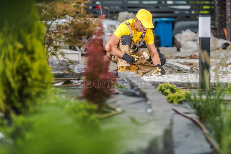 Garden Path Work royalty free stock image