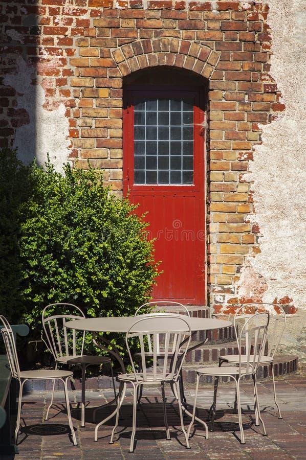 Garden patio furniture royalty free stock photos