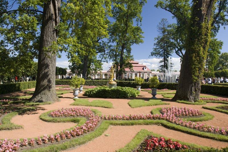 Garden of Peterhof stock image