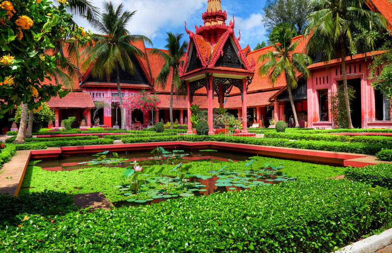 Garden Phnom Penh - Cambodia (HDR) royalty free stock image