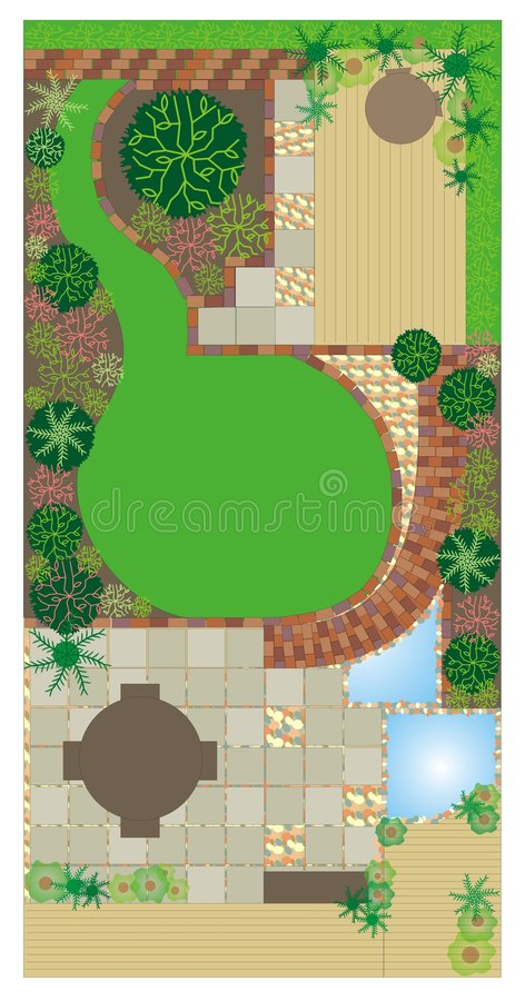 Garden plan royalty free illustration