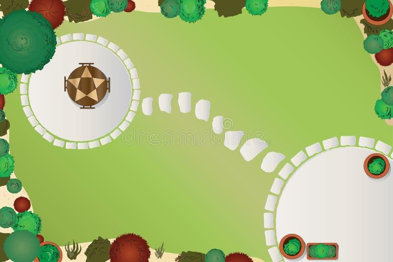 Download Garden plan stock vector. Image of gravel, home, flower - 13614591