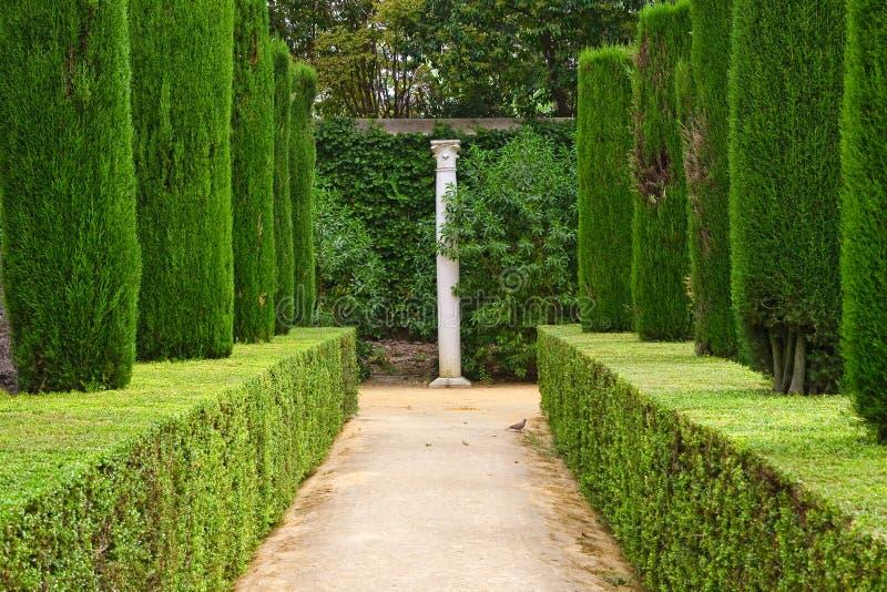 Garden Of The Poets, Alcazar Palace Royalty Free Stock Photos