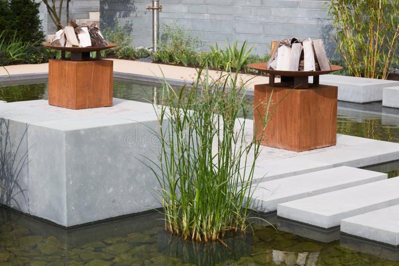 Garden Pond stock photo