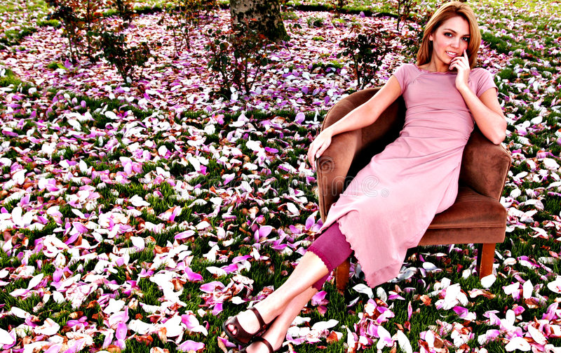 Garden portraits stock images
