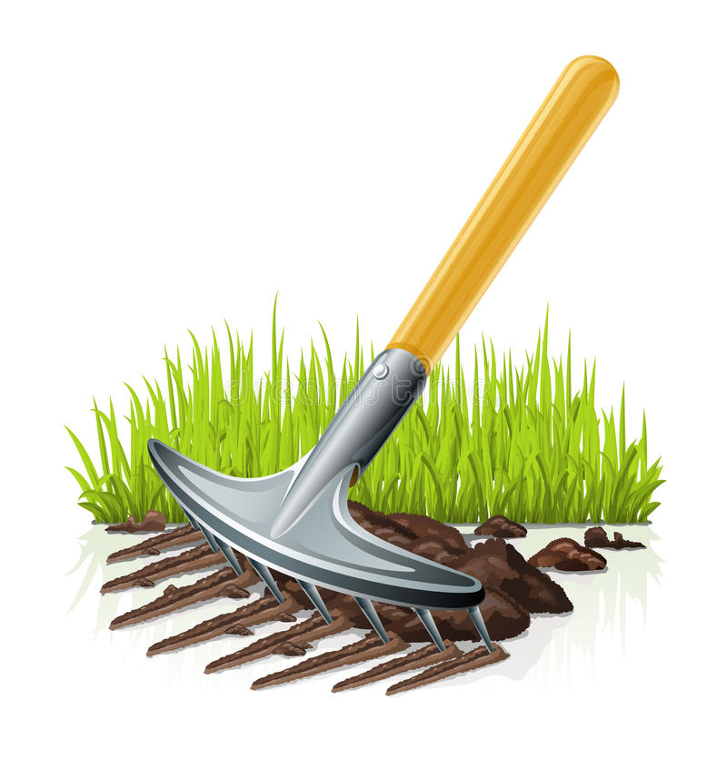 Garden rake royalty free illustration