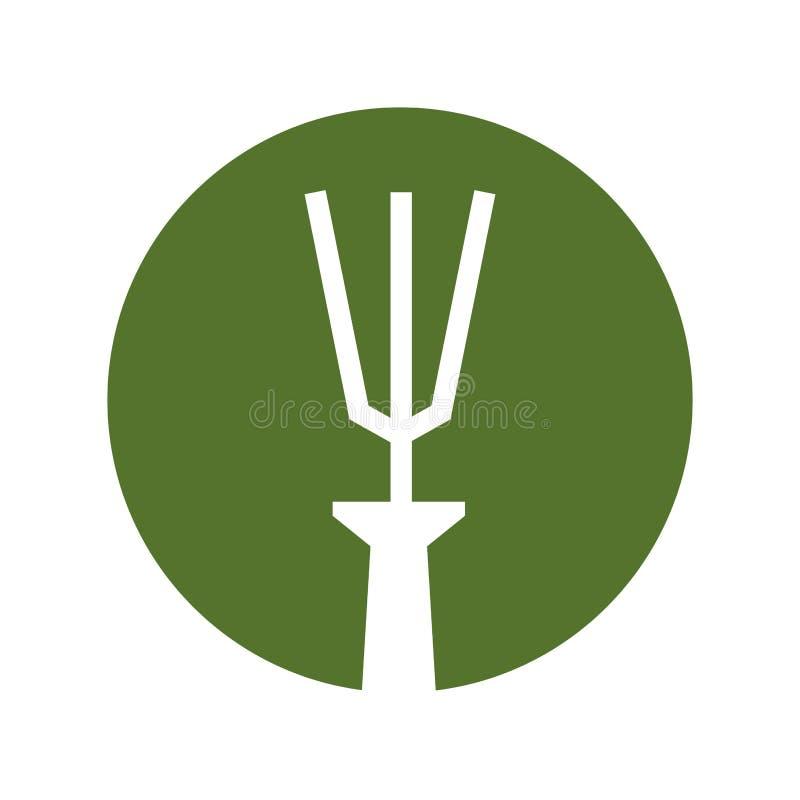 Garden rake isolated icon. Vector illustration design royalty free illustration