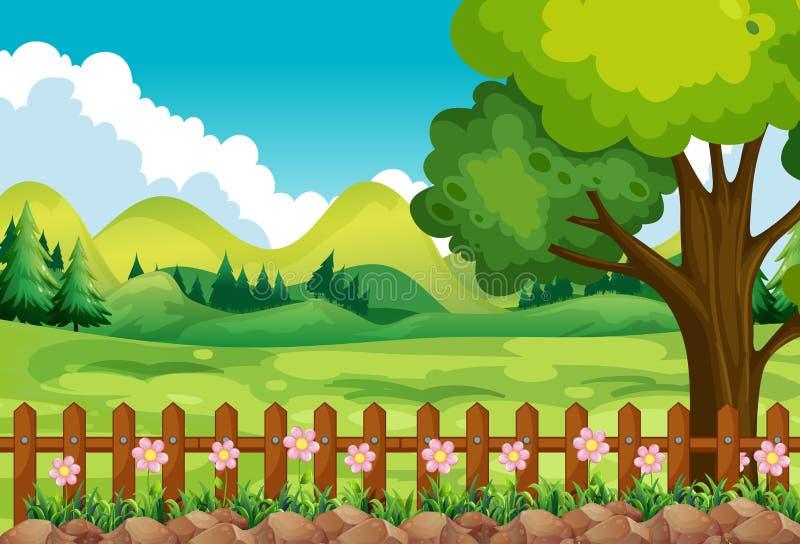 Garden vector illustration