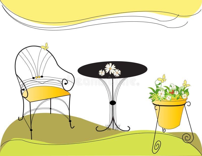 Garden set stock illustration