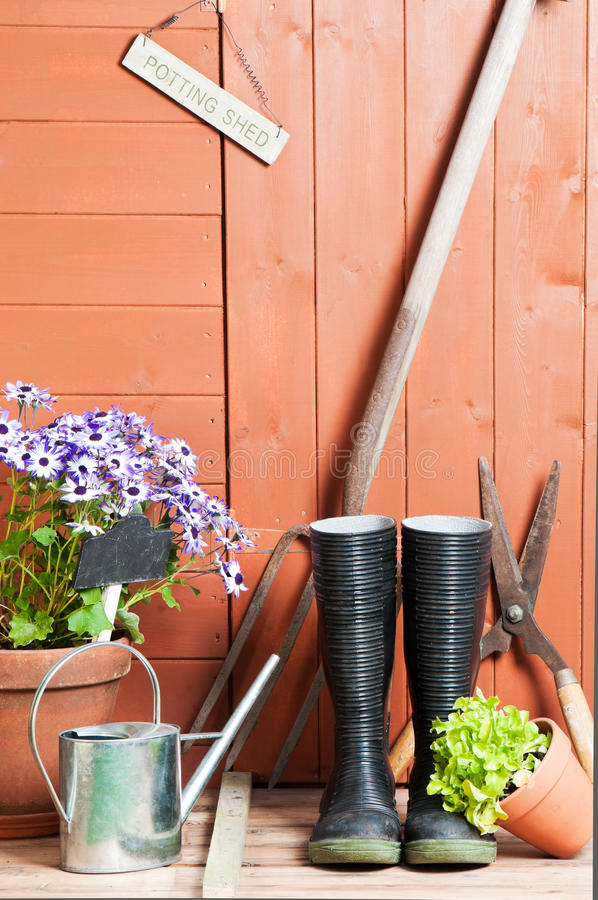 Download Garden Shed stock photo. Image of plants, tools, dirty - 14917950