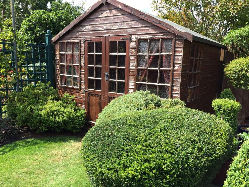 Garden shed royalty free stock image